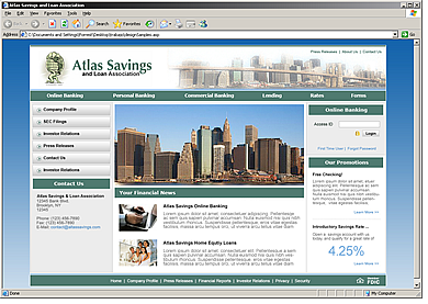Atlas Savings and Loan Association website