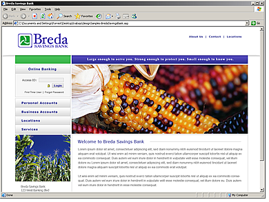 Breda Savings Bank website