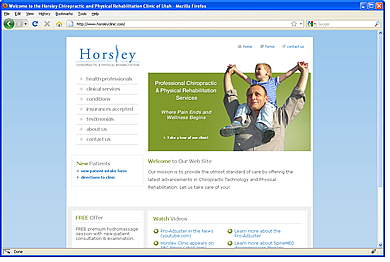 Horsley Chiropractic Clinic website